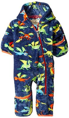 Hatley Baby Boys' Fuzzy Fleece Bundler Dragons, Blue, 12 ...