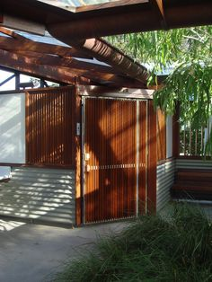 Public Ablutions — OZ.E.TECTURE Wood Architecture, Architecture Awards, Exterior Cladding, Wall Cladding, Roof Drain, Architecture Foundation, Concrete Floors, Hardwood, Garage Doors