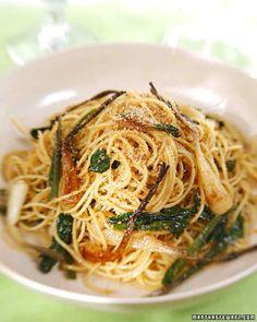 Spaghetti with Ramps | Martha Stewart Living - This delicious recipe for spaghetti with ramps comes from chef Mario Batali.