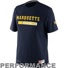 Nike Marquette Golden Eagles 2012 Team Issued Elite Performance Practice T-Shirt - Navy Blue.  Mine just got wrecked in the wash from color bleeding, need a new one.  Size = XXL