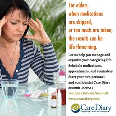 REGISTER with the Care Diary, and create your own private account. Find more information visit www.ecarediary.com