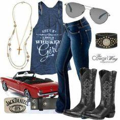 She's my little whiskey girl...