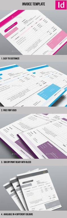 Minimalist Invoice Template by geraphic AN INVOICE TEMPLATEThis is a professional invoice template that can be used for billing purpose.The files are designed in a way t