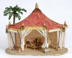 Imagen relacionada Fontanini Nativity, Christmas Holidays, Christmas Decorations, Christmas Nativity Scene, Christmas Villages, Landscape Concept, Nativity Crafts, Ceramic Houses, Decorative Tile