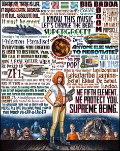 Supreme Being Fifth Element tribute signed print