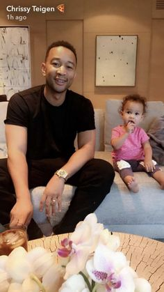 Chrissy Teigen Enjoyed Movie Night With Baby Luna, John Legend, and Their Dog Puddy  - ELLE.com