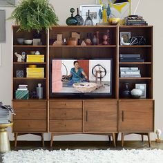 Mid-Century Media 6-Piece Set - Acorn  | West Elm  I love the look of this, but crazy expensive...check Ikea!