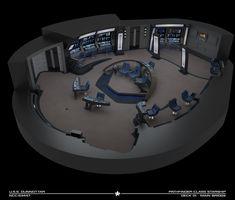 Star Trek Bridge, Spaceship Interior, Star Wars Spaceships, Star Trek Images, Star Trek Starships, Star Chart, Star Trek Ships, Brave New World, Cutaway