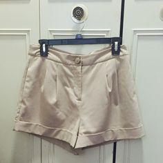 Tan Shorts Tan Shorts, Size Medium Forever 21 Shorts