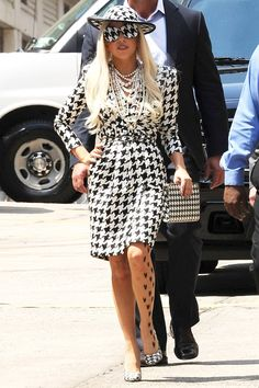 some of Lady Gaga\'s glamorous outfits
