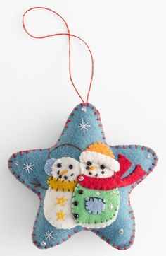 Free shipping and returns on New World Arts 'Puffy Star with Two Snowmen' Ornament at Nordstrom.com. Adorn your tree with a crafty little star embellished with charming, homespun details and a duo of cute snowmen.