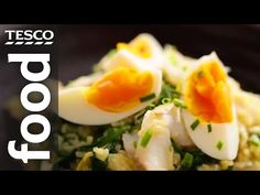 With Kate Moore's help, you can make this fish kedgeree recipe using smoked haddock and enjoy it as a tasty dish for breakfast, lunch or dinner. Kedgeree Recipe, Tesco Real Food, Jamie Oliver, Recipe Using, Tasty Dishes, Sushi, Rice, Gluten Free, Eggs