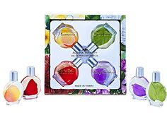 ALOHA BEAUTY PERFUME (EAU DE PARFUM) SAMPLER -MADE IN HAWAII. Whether it's the fruity floral notes of Island Bougainvillea, the sensuous, heady fragrance of Tropical Gardenia, the sweet and enchanting fragrance of Hawaiian Plumeria or the spicy and daring aroma of Red Hibiscus, there's a fragrance to suit every mood and occasion. An elegant sampling of our four Aloha Beauty fragrances * Made in Hawaii. Contains four .5 oz bottles. One each of Hawaiian Plumeria, Red Hibiscus, Island...
