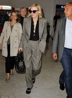 Stunning: Cate Blanchett, 48, looked every inch the woman of power ahead of the Cannes Fil...