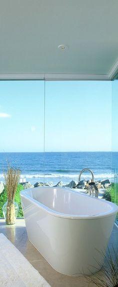 Bath with ocean views!