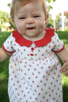 Cute baby dress tutorial. Plus this baby is adorable.