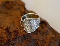 Vintage Sterling Silver Souvenir Spoon Ring.. by cottagetocastle