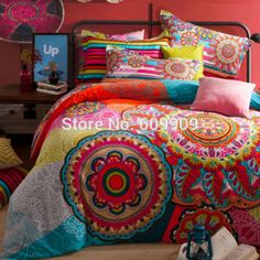 Bohemian Bedding Set Boho Style Bedding Set  Moroccan Bed Set  Duvet Cover Set 100% Brushed Cotton