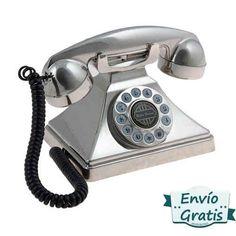 Teléfono con forma de pirámide, estilo Brittany años 40. Disponible en más colores, envío gratis. http://www.vasderetro.com/telefonos-retro