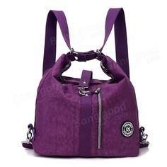 Women Waterproof Nylon Lightweight Mutifunctional Handbag Crossbody Bag  Backpack - US 22.52 db7c558238e59