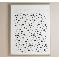 """Love the large scale...this piece is 44""""W x 56""""H  Black Dots Artwork,$2200.00"""