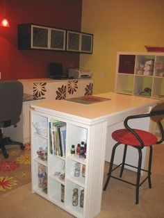 My new scrapbook room, stamp room, craft room, space - Two Peas in a Bucket