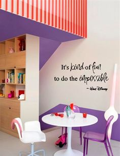 Walt Disney Wall Decal u0027Itu0027s Kind Of Fun To Do The Impossibleu0027 Quote. $24.95 via Etsy. & Its Kind of Fun to Do the Impossible -Walt Disney Wall Art ...