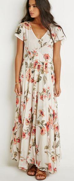 flower dress, maxi dress, summer