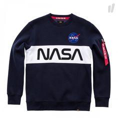 Alpha Industries NASA Inlay Sweater ( 178308 07 / Rep.Blue ) - OVERKILL Berlin - Sneaker, Wear & Graffiti