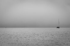 Sailing Into The Abyss At Coniston Water.