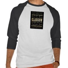 Glasgow City of Scotland Typography Art T Shirts