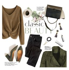 """""""classic beauty"""" by punnky ❤ liked on Polyvore featuring CÉLINE, Wrap and Haute Hippie"""