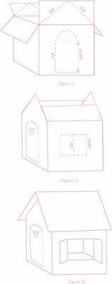 Cómo hacer la mejor casita de cartón para niños paso a paso ~ lodijoella