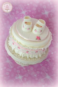 Baby's First Shoes - Cake by Sugarpatch Cakes