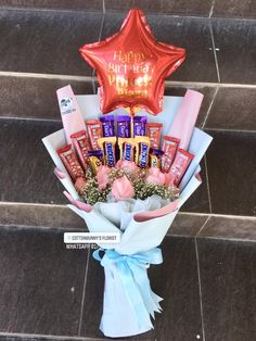 Order or enquiry's please Whatsapp us No : We provide delivery for Penang Kedah Kl Selangor (Selected Area) Diy Flowers, Fresh Flowers, Ferrero Rocher Bouquet, Birthday Candles, Birthday Gifts, Graduation Bouquet, Food Bouquet, Snack Recipes, Snacks