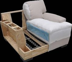 Fun and Creative DIY Furniture Ideas – Voyage Afield Diy Couch, Diy Chair, Sofa Chair, Chair Cushions, Swivel Chair, Furniture Making, Diy Furniture, Furniture Design, Sofa Frame