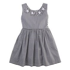 Summer Striped Bow Dress