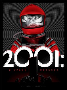 "Tracie Ching - ""2001: A Space Odyssey"" Tracie Ching's work is always fantastic.  I love how her Kubrick series has the circular pattern in the back that creates a visual illusion.  *sold out"