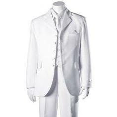 Boys White 5 Button 5 Piece Suit 28 by BJK