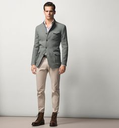 moda americanas blazer hombre otono-invierno 2015-2016 tendencias americana algodon de massimo dutti
