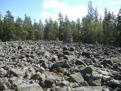 "Boulder field what we call ""Pirunpelto"" (""Devil's Field"")  http://www.ilmajoki.fi/files/Tiedostot/Matkailijalle_englanti.pdf"
