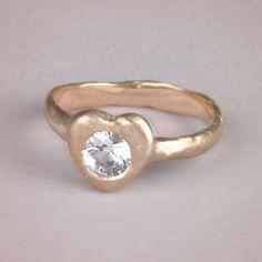True heart ring #engagementrings #wedding http://www.roughluxejewelry.com/
