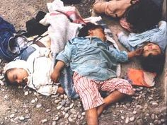 Kurdish victims of mass-murder in Halabjah, where in 1988 Saddam Hussein ordered chemical weapons to be directed against a civilian population. ***___***  http://www.jeffjacoby.com/jacoby/pics/large/1401.jpg