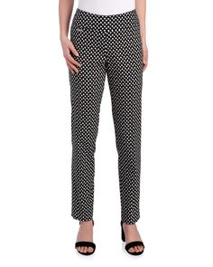 Exclusively Ours - Ava Moon Dot Print Ankle Pant-Peck & Peck-Featured Brands-Women | Stein Mart