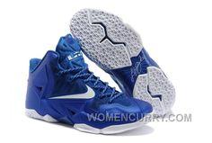 Big Discount  66 OFF Nike LeBron James 11 Royal BlueWhite For Sale