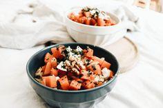 Superbowl végétarien au boulgour, pois chiches, potiron, chèvre et épices  #recipe #veggie #food #bowl #superbowl #vegetarian #vegetarien