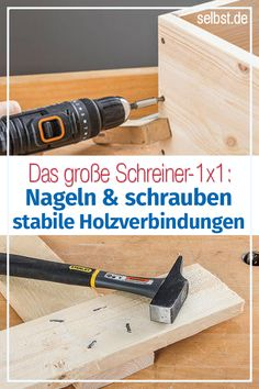 wood joints- In this overview we present the most important types of connection for furniture construction: screwing, nailing, doweling, gluing … connections tips - Woodworking For Kids, Woodworking Crafts, Woodworking Projects, Woodworking Bed, Woodworking Classes, Woodworking Chisels, Woodworking Equipment, Woodworking Workshop, Wood Joints