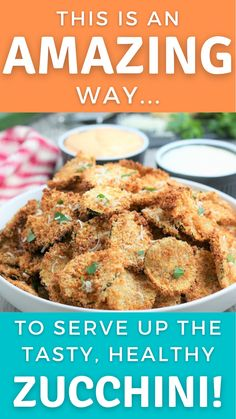 My Favorite Food, Favorite Recipes, Healthy Zucchini, Vegetarian Appetizers, Pork Rinds, Air Frying, Vegetable Side Dishes, Dinner Recipes, Easy Meals
