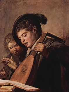 Two Boys Singing - Frans Hals