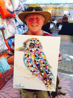 Kookaburra painting by tracey keller